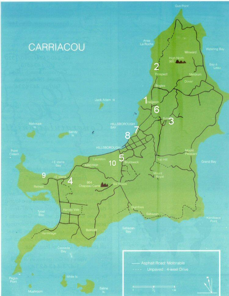 Map of Carriacou